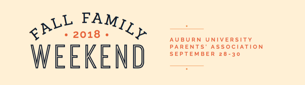 Fall Family Weekend is September 28-30.