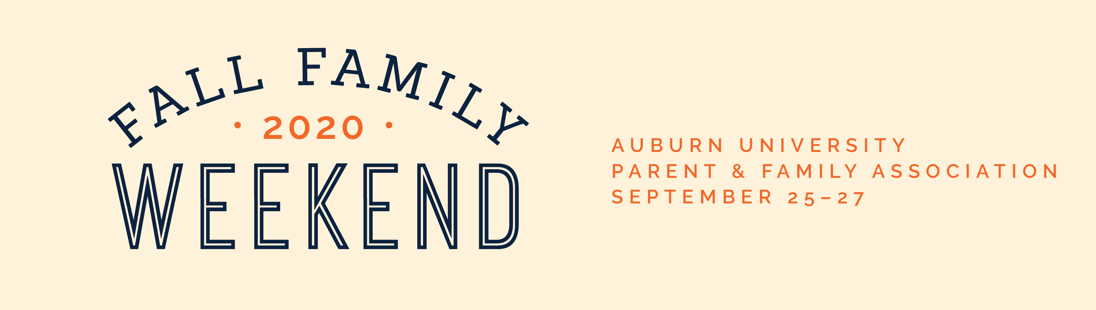 Fall Family Weekend 2020